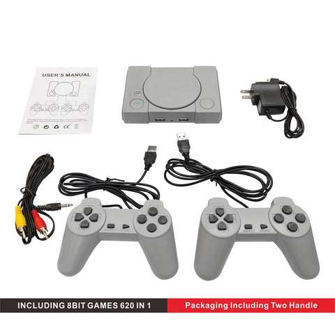 Image of Classic 8-bit PS1 Mini Home Game Console Retro Two-player Game Console 620 Games