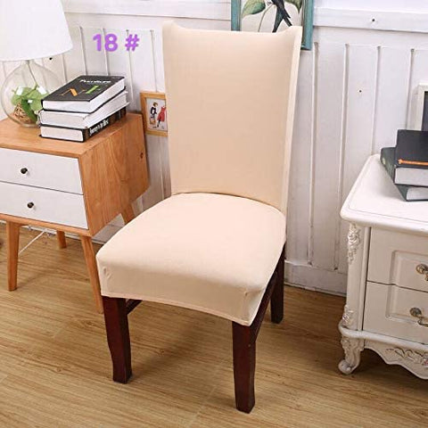 Image of Removable Washable Dining Chair Covers Stretch Seat Slipcover Cushion Protector