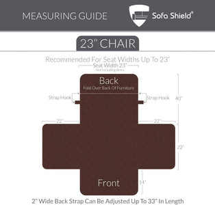 Furniture Slipcover Sofa Shield Reversible Chair Protector For Seat