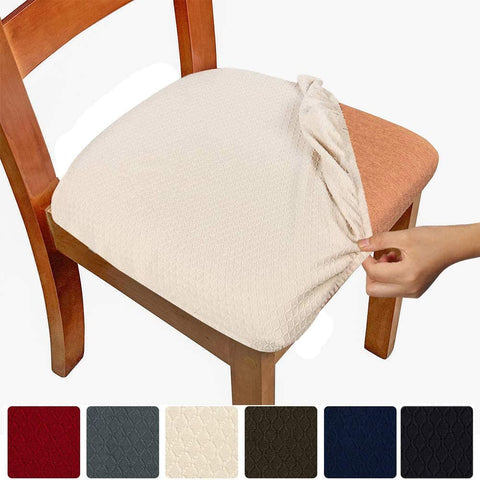 Image of Stretch Chair Seat Covers Removable Washable Anti-Dust Cushion Slipcovers