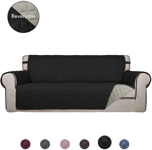 Reversible Sofa Cover Water Resistant Slipcover Furniture Protector Washable Couch Cover