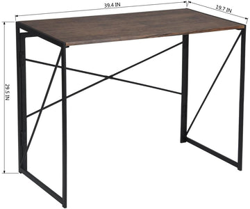 Writing Computer Desk Modern Simple Study Desk Industrial Style Folding Laptop Table