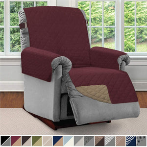 Sofa Reversible Recliner Protector Furniture Slipcover Reclining Chair