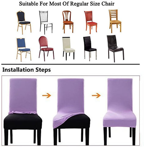 Image of Velvet Stretch Dining Room Chair Covers Soft Removable Dining Chair Slipcovers