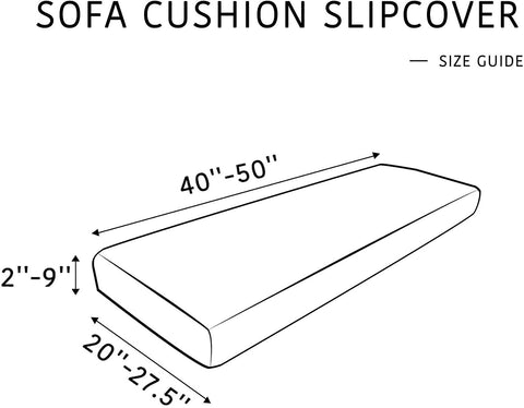 Image of Stretch Couch Cushion Slipcovers Reversible Cushion Protector Slipcovers Sofa Covers