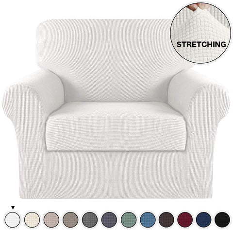 Image of Sofa Cover Spandex Elastic Bottom Chair Non Slip Stretch Chair Slipcover