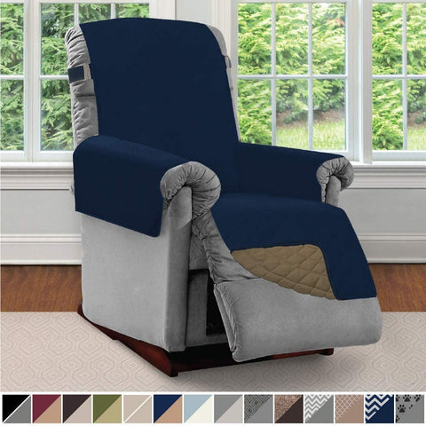 Image of Sofa Reversible Recliner Protector Furniture Slipcover Reclining Chair