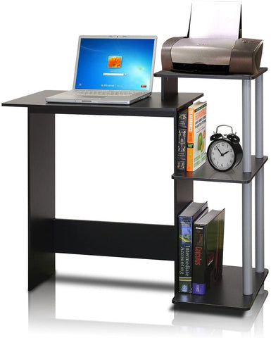 Efficient Home Laptop Notebook Computer Desk Square Side Shelves