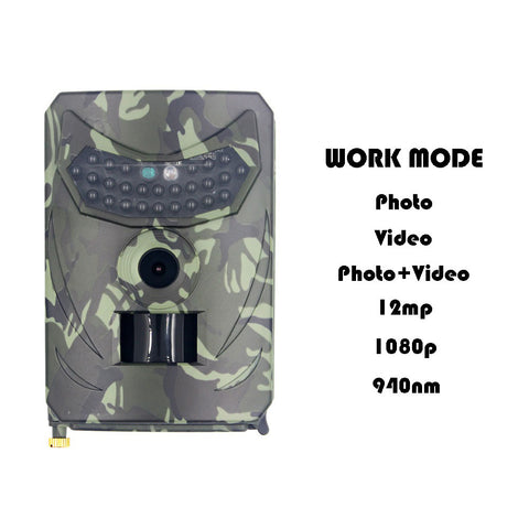 Image of PR100 1080P High-definition Outdoor Hunting Camera Infrared Night Vision Sensor Monitoring