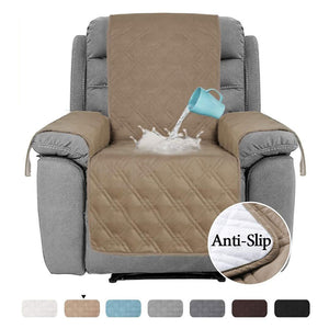 Waterproof Furniture Protectors Chair Covers Leather Non-Slip Recliner Slipcover