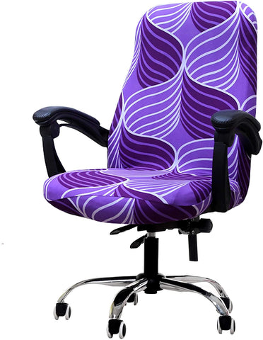 Image of Computer Office Chair Covers Stretch Rotating Mid Back Chair Slipcovers