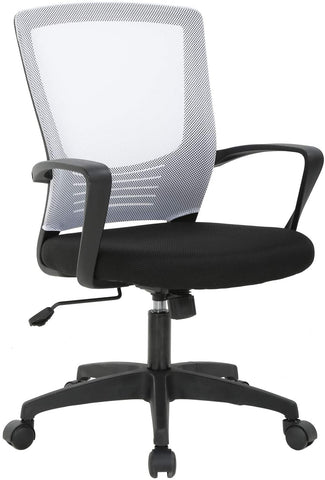 Office Chair Desk Chair Computer Chair Rolling Armrest Mesh Chair Adjustable Stool