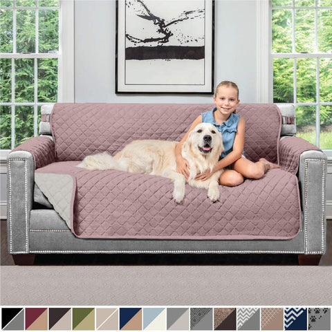 Image of Sofa Reversible Small Sofa Protector Furniture Slipcover Couch Slip Cover Throw