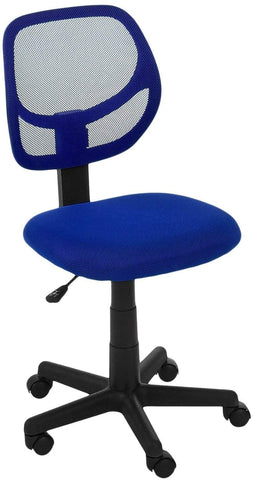 Image of Low-Back Computer Task Office Desk Chair with Swivel Casters
