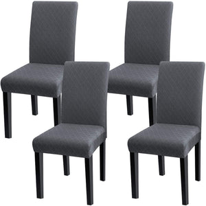 Super Fit Stretch Removable Washable Short Dining Chair Protector Cover Seat Slipcover