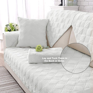 Couch Cover Sofa Cover Quilted Sectional Velvet Sofa Slipcover
