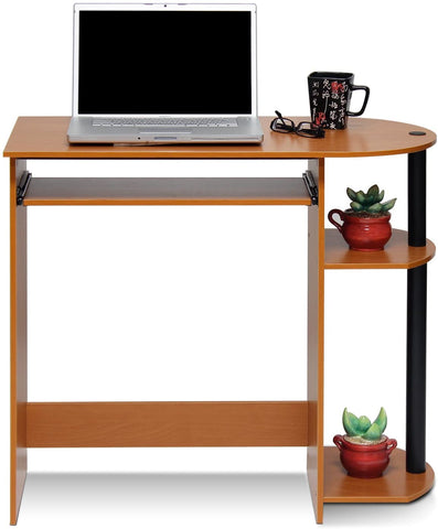 Simplistic Easy Assembly Computer Desk, With Keyboard Tray