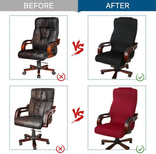 Computer Office Chair Cover Velvet Fabric Rotating Chair Slipcovers