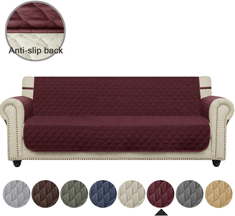 Image of Couch Sofa Slipcover Waterproof Nonslip Quilted Furniture Protector Slipcover