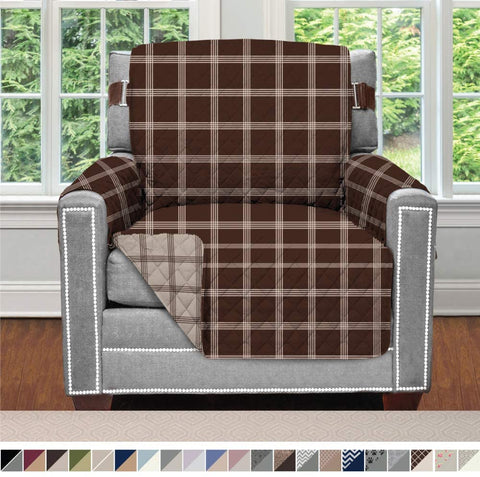 Image of Furniture Slipcover Sofa Shield Reversible Chair Protector For Seat