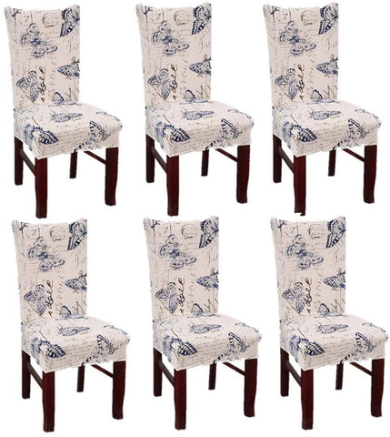 Image of Soft Stretchable Dining Chair Covers Spandex Banquet Chair Protector Slipcovers