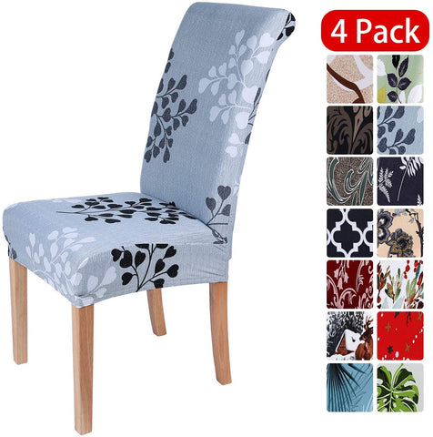 Image of Stretch Dining Chair Covers Spandex Removable Washable Chair Protector Slipcovers