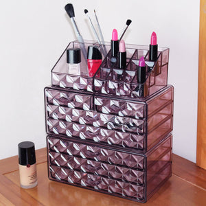 Acrylic Jewelry Makeup Cosmetic Storage Organizer Clear Design For Easy Visibility