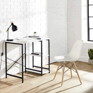 Classic Computer Desk With Shelves -