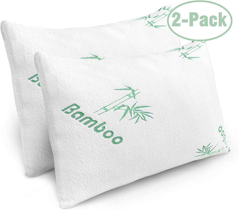 Image of Pillows For Sleeping Cooling Memory Foam Bed Pillows Bamboo Hypoallergenic Covers