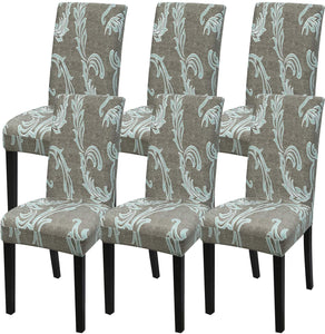 Stretch Removable Washable Short Dining Chair Protector Cover Seat Slipcover