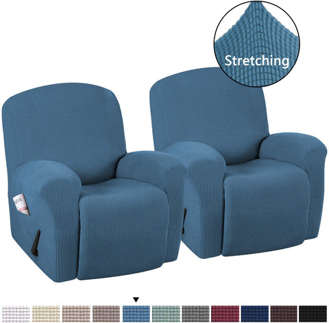 Image of Stretch Recliner Slipcovers High Stretch Jacquard Sofa Furniture Cover
