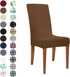 Stretch Spandex Dining Room Chair Covers Removable Washable Seat Slipcovers
