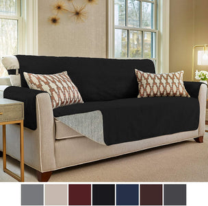 Slip Resistant Large Sofa Protector Suede-Like Furniture Slipcover Cover