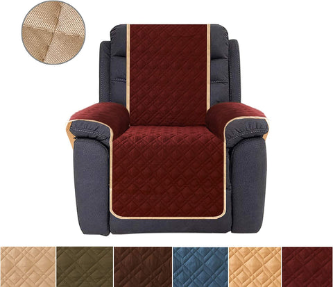 Image of Recliner Cover Reversible Furniture Protector Recliner Slipcovers Water Resistant