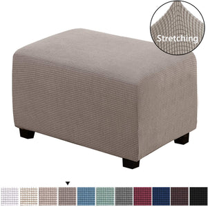 Slipcovers Rectangle Footrest Sofa Slipcovers Footstool Protector Covers Stretch