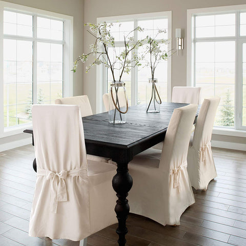 Image of  Dining Chair Cover 100% Cotton Chair Slipcover