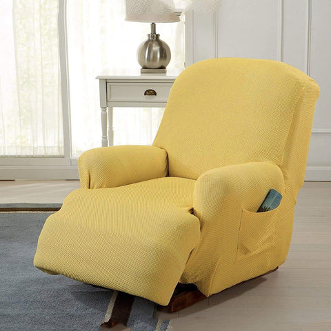 Image of Stretch Recliner Sofa Chair Furniture Slipcovers with Remote Pocket