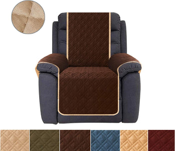 Recliner Cover Reversible Furniture Protector Recliner Slipcovers Water Resistant