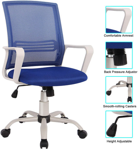 Image of Office Chair Mid Back Mesh Office Computer Swivel Desk Task Chair