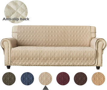 Couch Sofa Slipcover Waterproof Nonslip Quilted Furniture Protector Slipcover