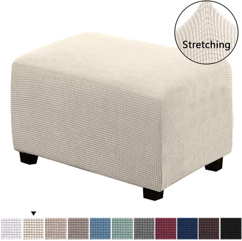 Image of Slipcovers Rectangle Footrest Sofa Slipcovers Footstool Protector Covers Stretch