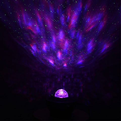Image of LED Colorful Starry Sky Projector Bluetooth USB Voice Control Music Player Projection Lamp