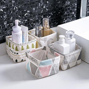 Storage Basket Container Multifunction Cotton Linen Storage Basket Organizer