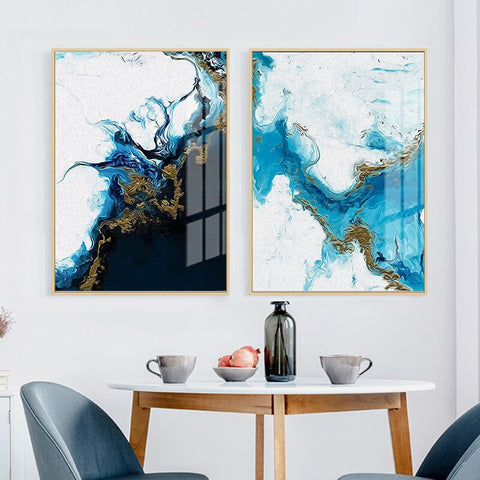 Image of Wall Pictures Nordic Abstract Canvas Poster Wall Art