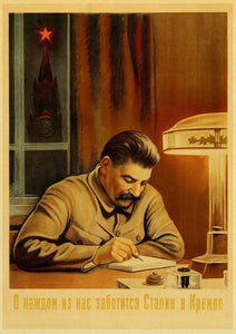 Vintage Stalin USSR CCCP Poster Wall Art Retro Posters For Home Room Wall Decor