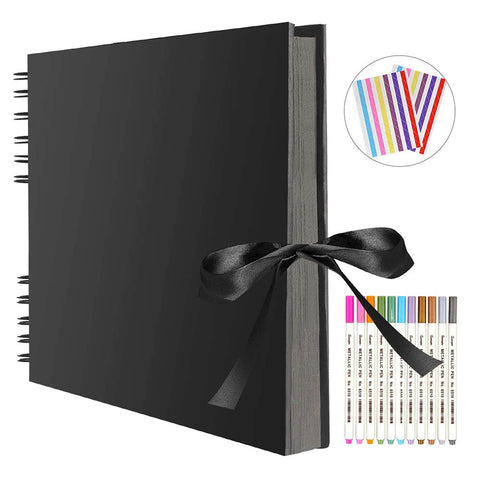 Image of Photo Albums Memory Books A4 DIY Scrapbooking Picture Wedding Birthday Childrens Gift