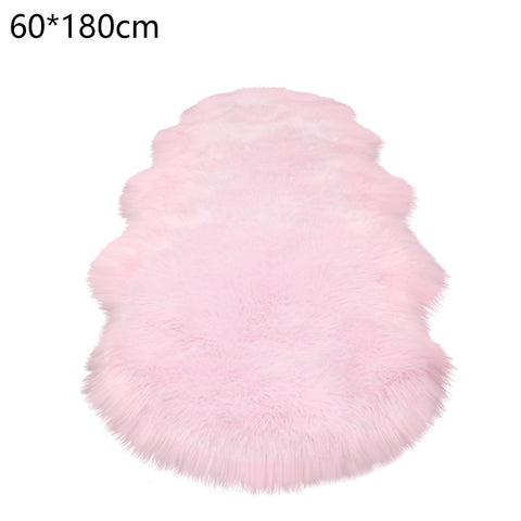 Image of Warm Carpets Floor Mat Pad Skin Fur Rugs Soft Faux Sheepskin Carpet
