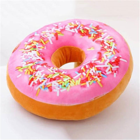 Image of Simulation Cushion Soft Plush Pillow Seat Pad Donut Foods Cushion