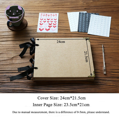 Loose-leaf Wedding Photo Album DIY Photo Frame Cover Self Adhesive Scrapbook Album