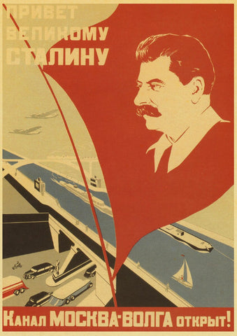 Image of Vintage Stalin USSR CCCP Poster Wall Art Retro Posters For Home Room Wall Decor